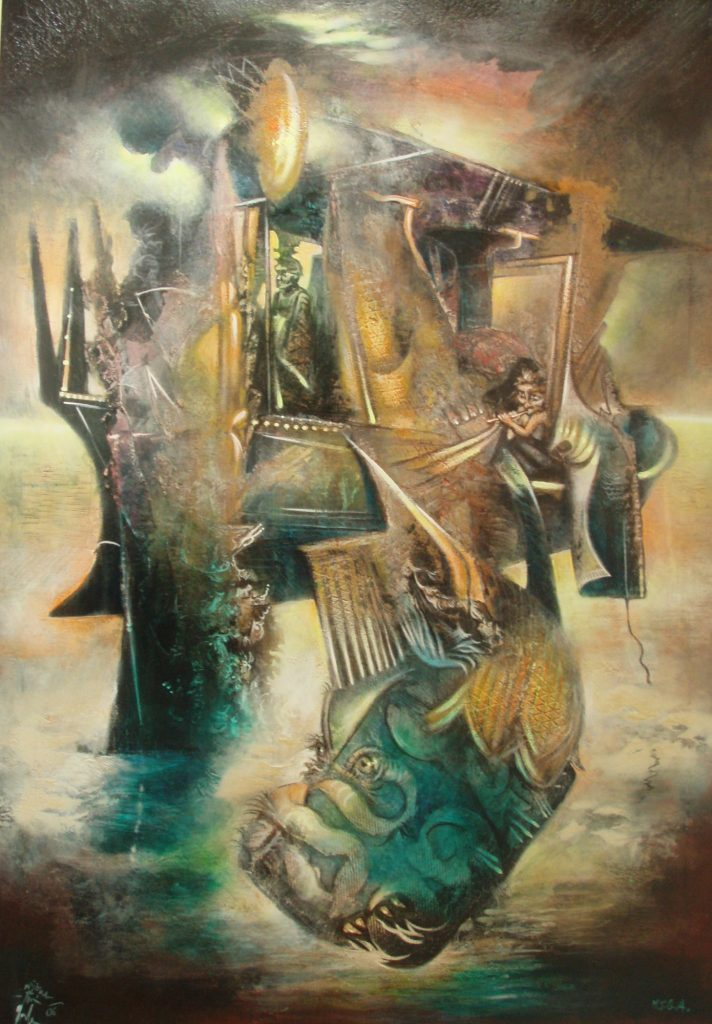 AIR PORT, mixed technique on canvas, 100 x 70 cm, 2006