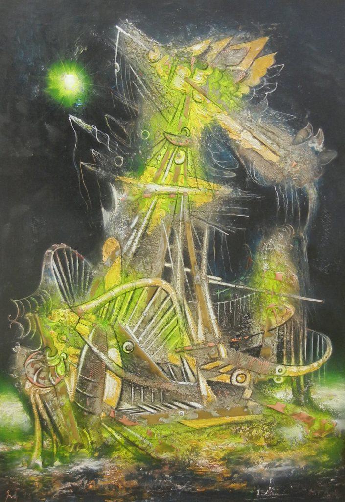 COPPER VESSEL, mixed technique on plywood, 100 x 70 cm, 2013