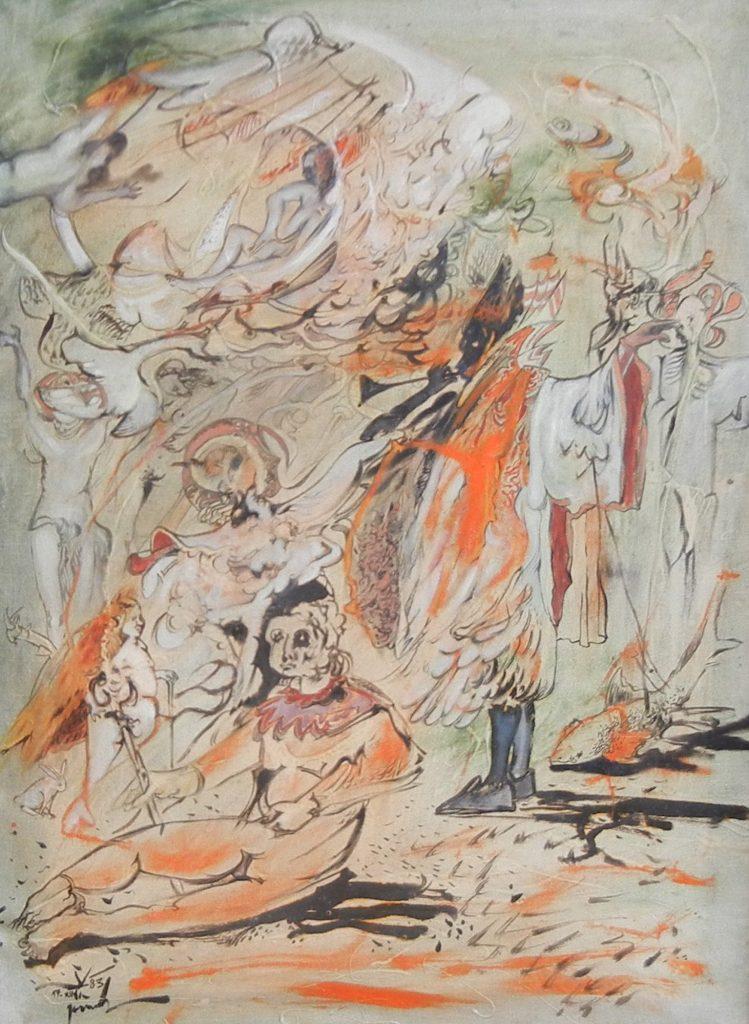 FAIRY TALE, oil on canvas, 80 x 60 cm, 1983