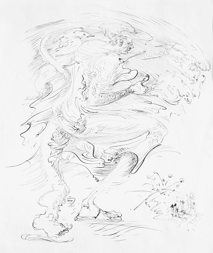 IN THE WIND, drawing, 30 x 22 cm, 1980