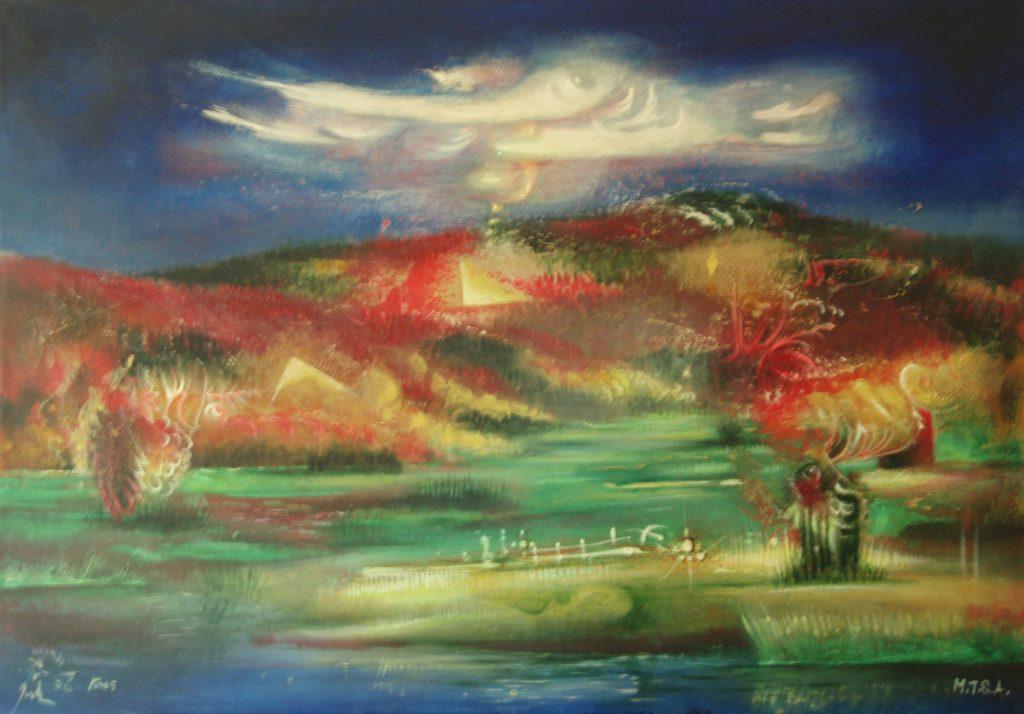 KARST, mixed technique on canvas, 50 x 70 cm, 2006