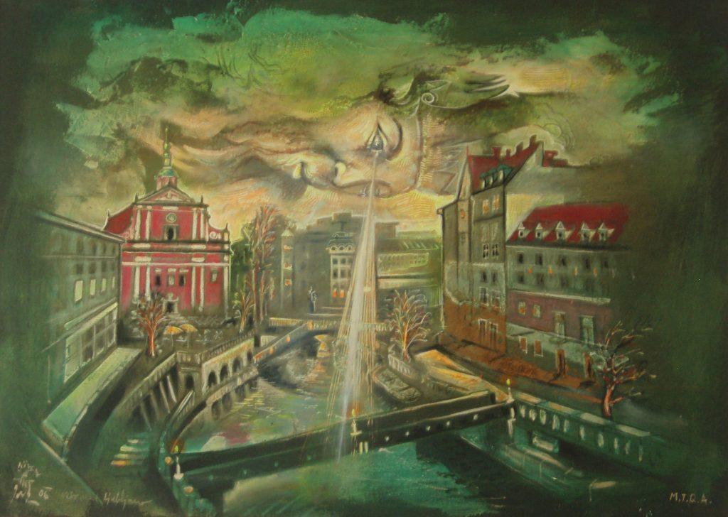 LJUBLJANA, mixed technique on canvas, 50 x 70 cm, 2006