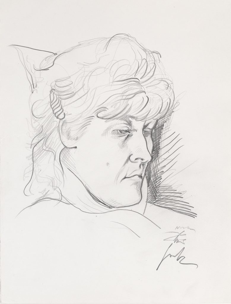 MARY, pencil, 35 x 25 cm, 1993