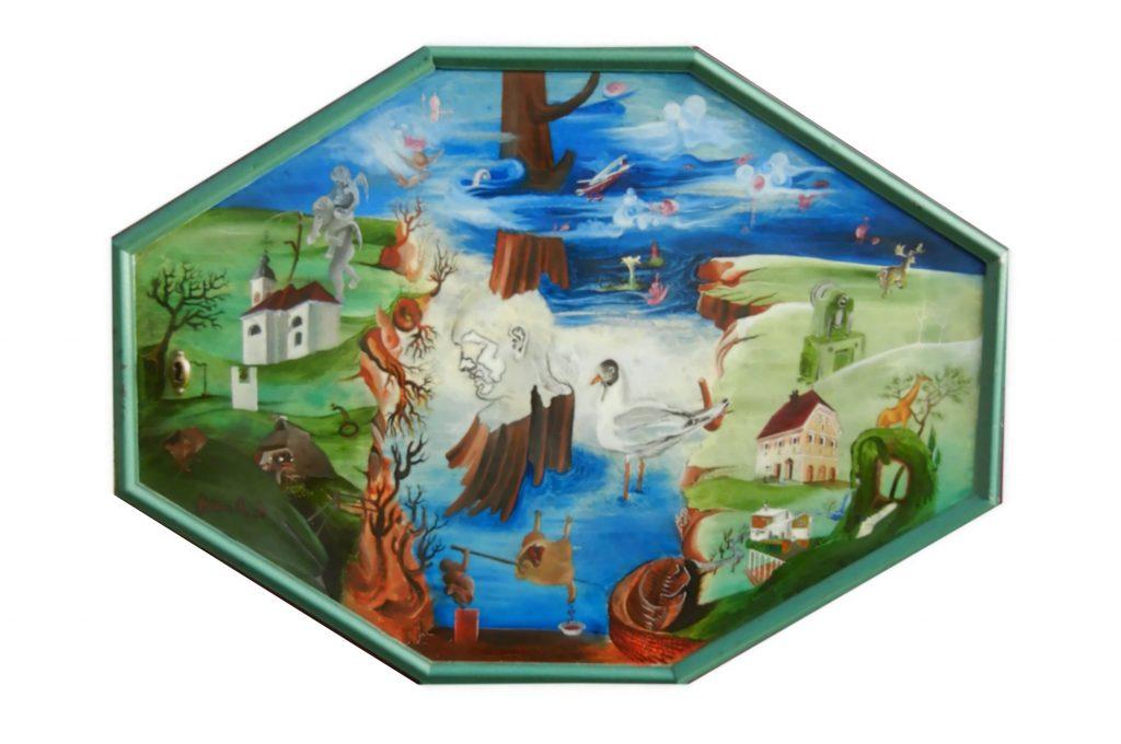 NOSTALGIA, oil on wood, 50 x 70 cm, 1977
