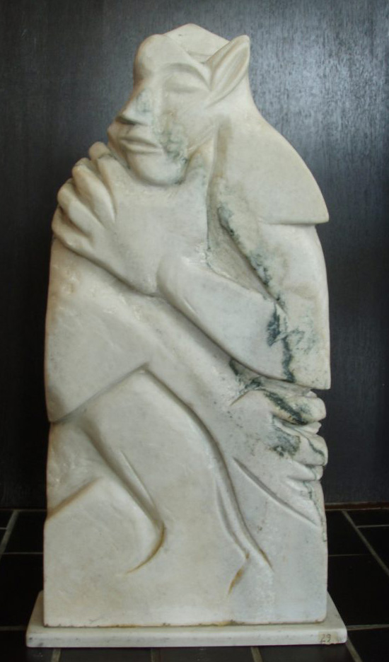 SERENITY, white marble, 75 x 40 x 10 cm, 1995