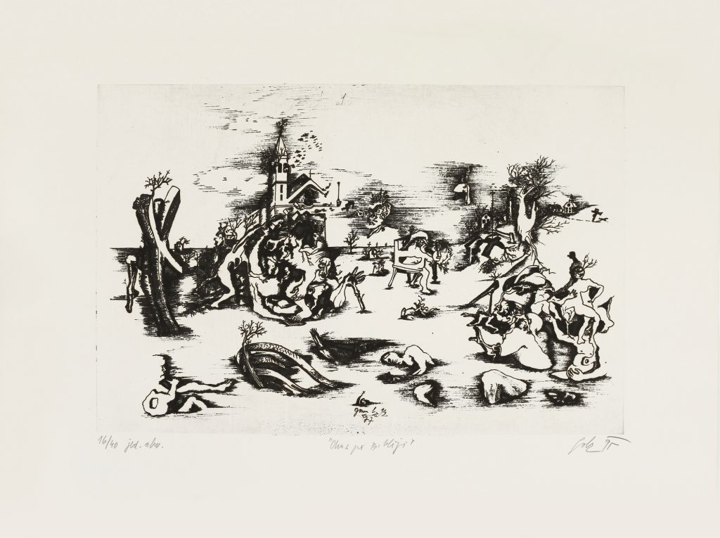TASTE OF BIBLE, etching - aquatinta, 50 x 70 cm, 1977-1995